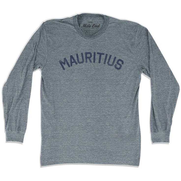Mauritius City Vintage Long Sleeve T-shirt