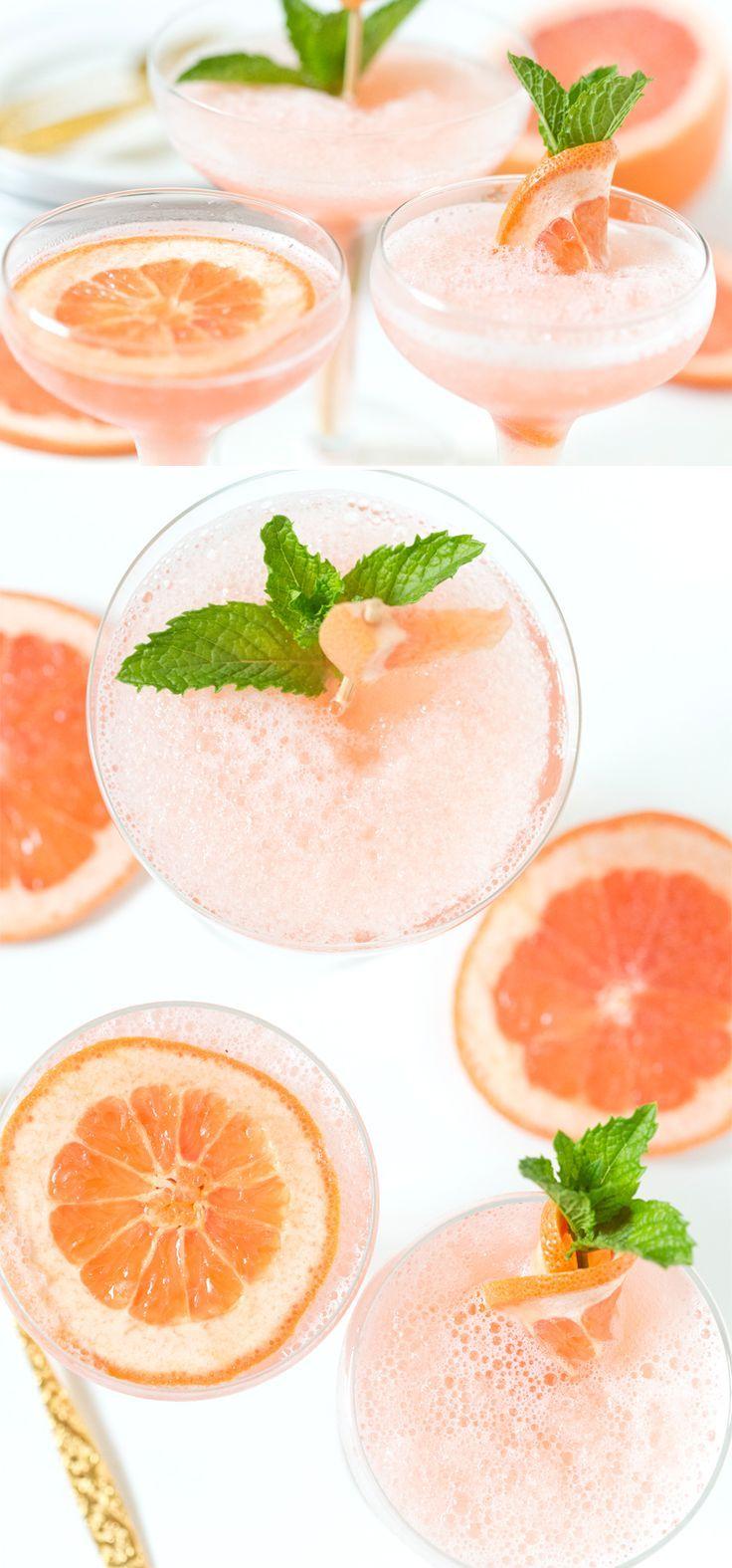 Frozen Rosé Grapefruit Cocktail   SO delicious, my favorite cocktail! Pizzazzerie.com