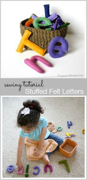 Easy Stuffed Felt Letters: Make a great addition to a preschool classroom! ~ BuggyandBuddy.com