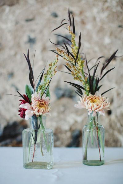 Rustic floral details: http://www.stylemepretty.com/little-black-book-blog/2014/12/23/rustic-elegance-at-sweetwater-farm/ | Photography: Ciro - http://cirophotography.com/