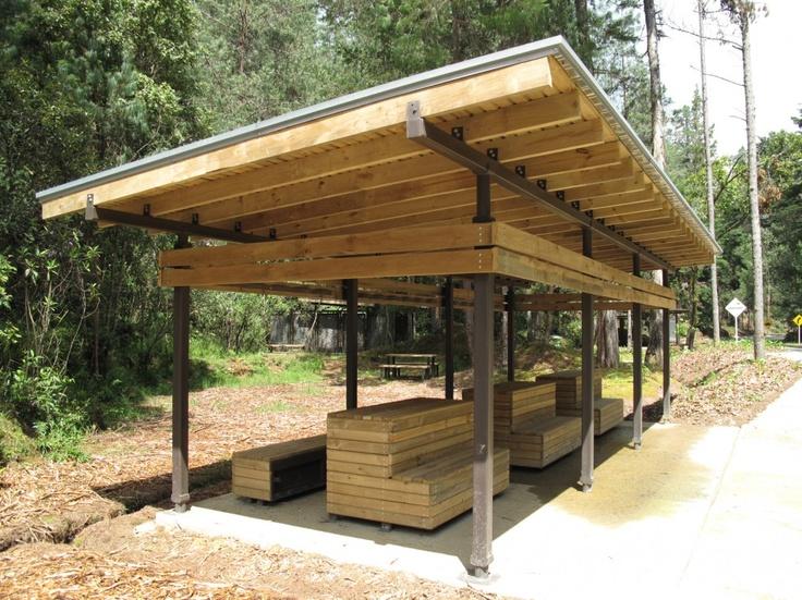 galera de mobiliario urbano para el parque arvi escala urbana