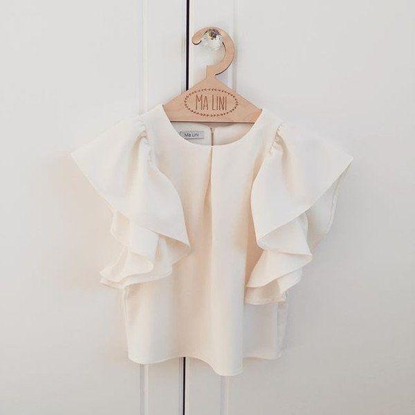 Bluzeczka echu Angelia - Ma-LIni - Sukienki dla dziewczynek