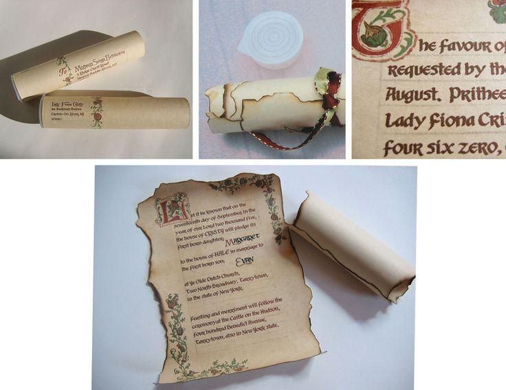 best 25+ scroll invitation ideas on pinterest   princess birthday, Wedding invitations