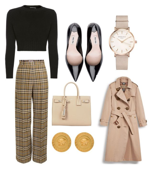 classy working day by larisamarin on Polyvore featuring polyvore fashion style Alexander McQueen Burberry Yves Saint Laurent ROSEFIELD Versace clothing