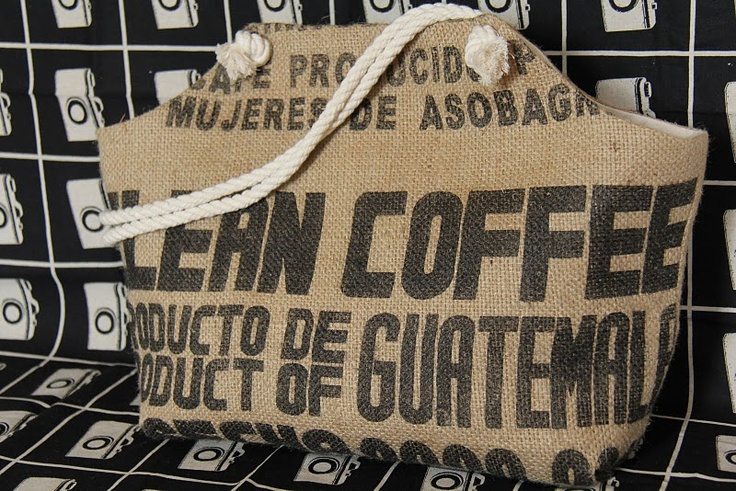 the Market tote. Made from recycled coffee bean sacks!