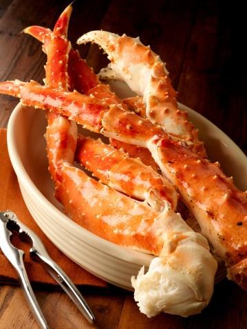 Alaskan King Crab Legs! - one of my faaaavs...drawn butter.
