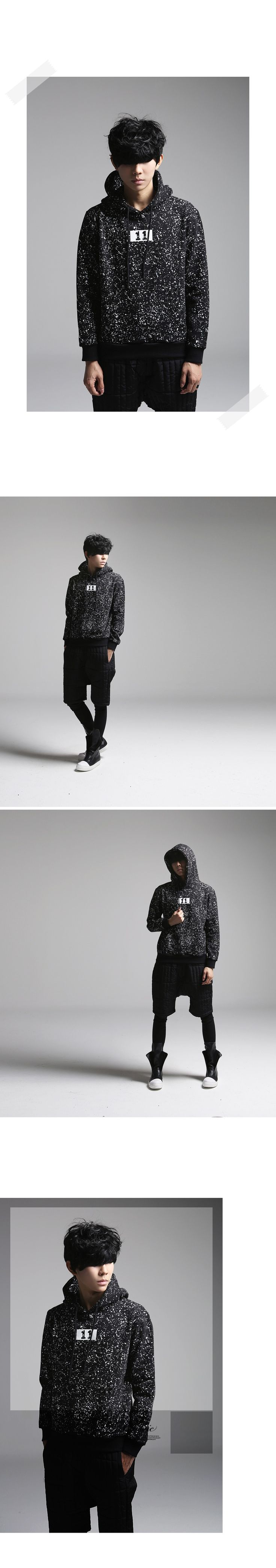 K-POP Men's Fashion Style Store [TOMSYTLE]  11 Dot panic Hood / Size : FREE /  Price : 54.35 USD #dailylook #dailyfashion #casuallook #tops #T #TEE #Tshirts #hoodT #unique #TOMSTYLE #OOTD  http://en.tomstyle.net/