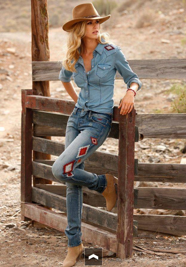 Gestickte Jeans -auch so geht aufpimpen