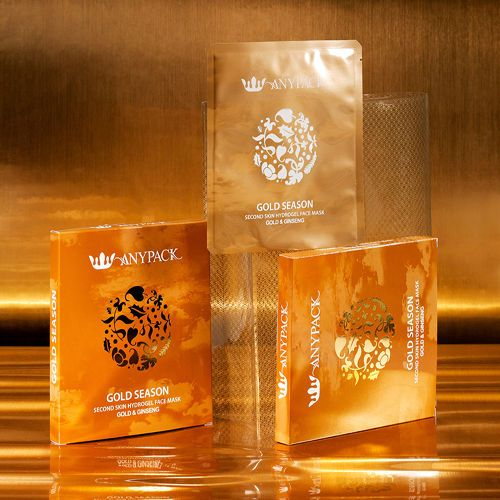Gold Ginseng Pure Hydro Gel Elastin Collagen  Facial Sheet Mask Korean Cosmetics #Anypack