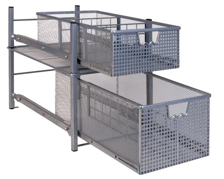 Amazon Com Decobros Mesh Cabinet Basket Organizer