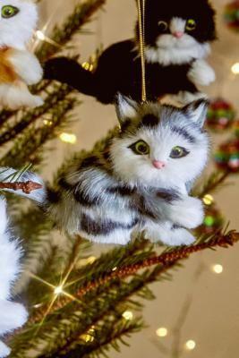 Plush Cat Christmas Ornament Urban Outers Uk