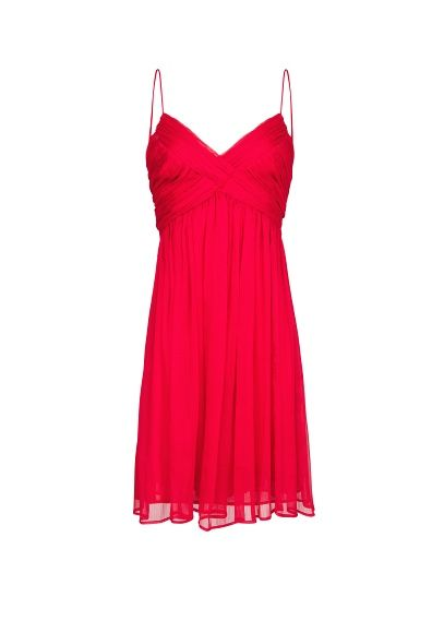 MANGO - Vestido drapeado gasa
