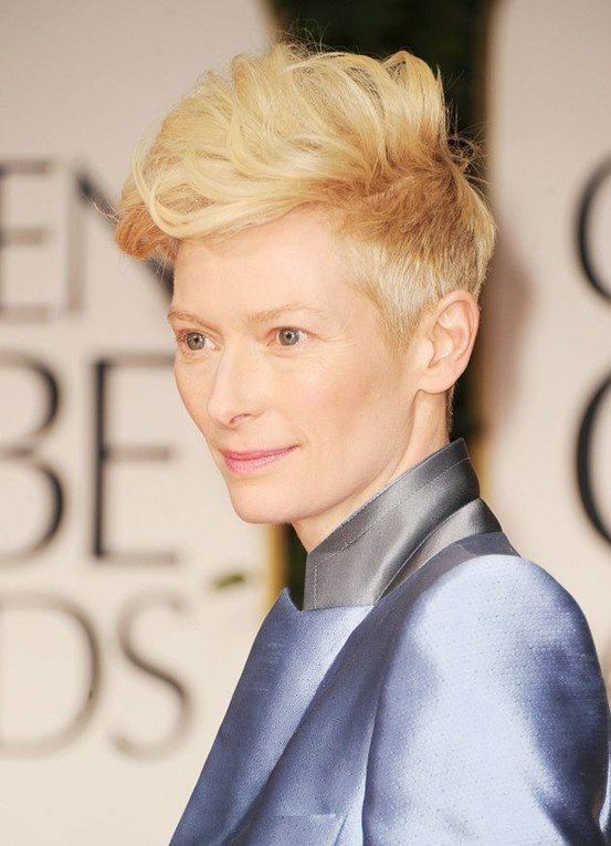 Tilda Swinton has amazing cheek bones, so dramatic cuts and pale colours to match her skin tone always look A.M.A.Z.I.N.G