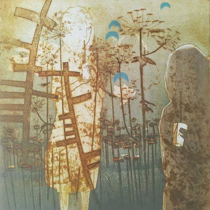 Katherine Jones - The Old Space - collagraph