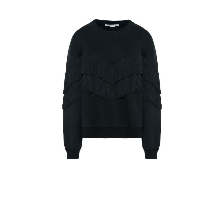 Shop the Black Round Neck Fringe Jumper by Stella Mccartney at the official online store. Discover all product information.