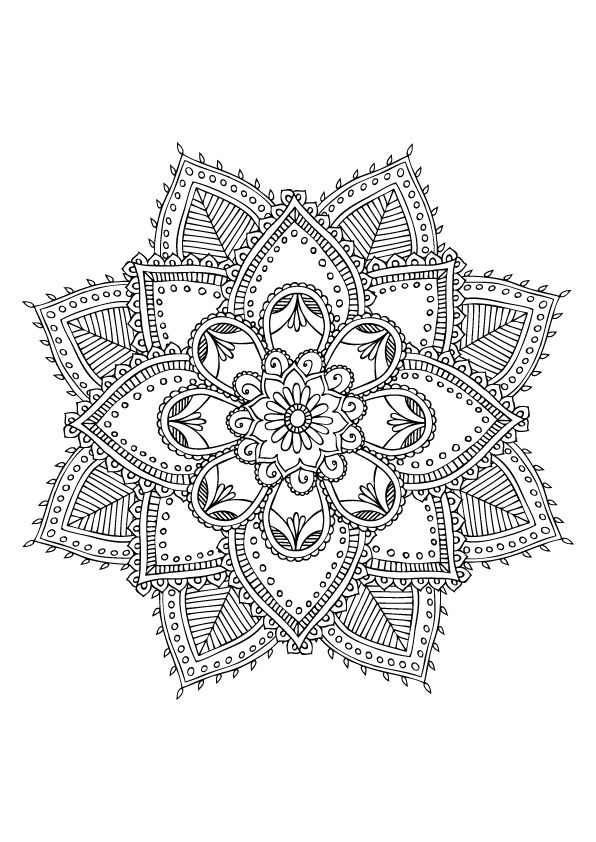 Mandala à colorier                                                                                                                                                      More