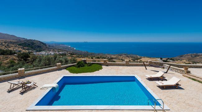 Libyan View Villa, a lovely sea view 4-bedroom villa in south Rethymno