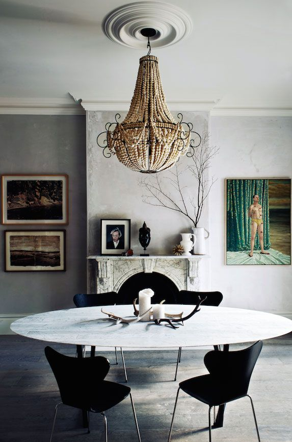 Fritz Hansen | Series 7 in black in a gracious and generous Victorian city terrace in Sydney's Paddington.