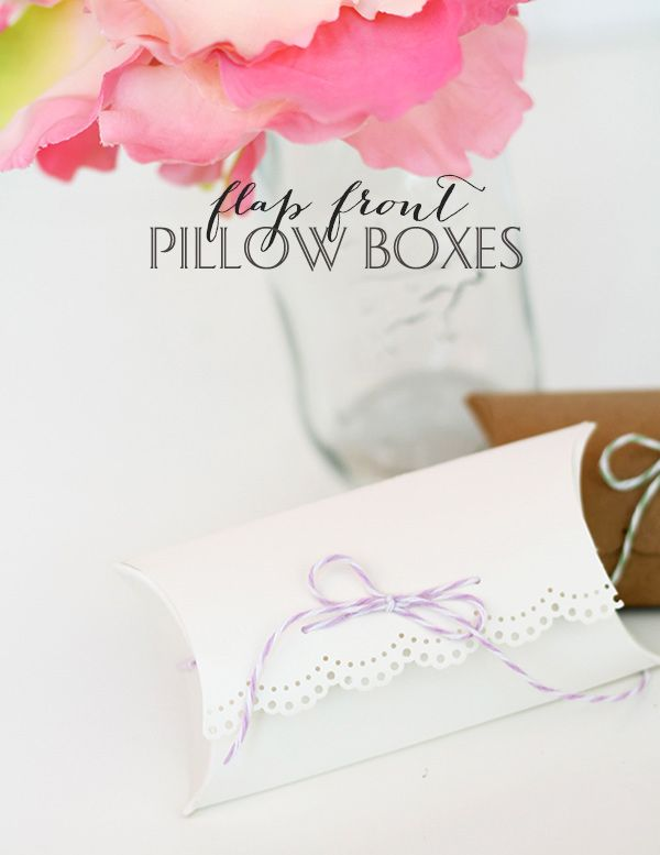 Flap Front Pillow Boxes with We R Memory Keepers Pillow Box Punch Board | Damask Love
