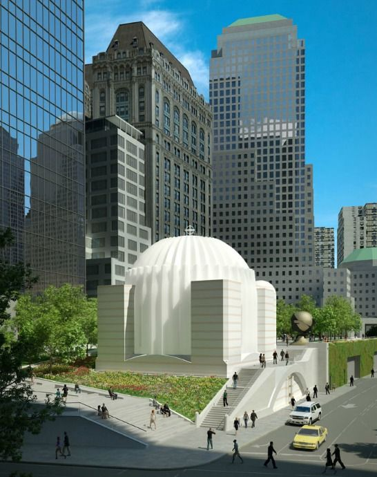 Calatrava Reveals Design for Church on 9/11 Memorial Site