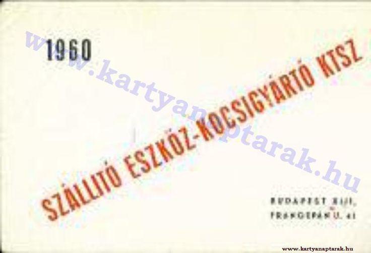 1960 - 1960_0100 - Régi magyar kártyanaptárak