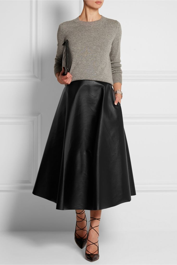 Best 20  Leather midi skirt ideas on Pinterest | Midi skirt outfit ...