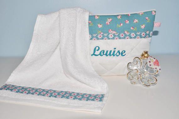 box cadeau:Trousse de toilette personnalisé sa mini serviette