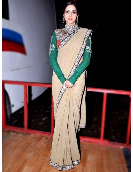Shree Devi In Chiffon Saree Item code : SMBW07