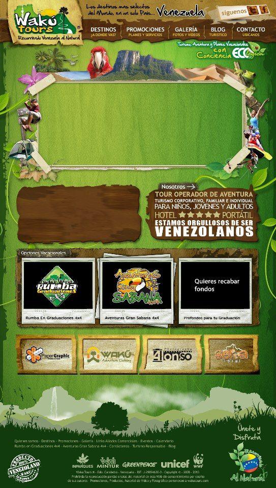 Diseño Web Photoshop-Ilustrator de Pagina Web Wakutours.com | Wakutour.com