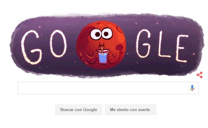 Google celebra con un 'doodle' el hallazgo de agua en Marte Ahora que la Nasa ha confirmado la presencia de agua en Marte, Google decidió celebrar el histórico descubrimiento con un colorido 'doodle animado'. #alojamiento #hospedaje #habitaciones #hotelcali www.casasantamonicacali.com