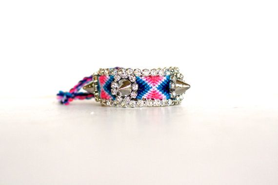The Frienemy Bracelet Pink and Blue with Silver by DolorisPetunia, $35.00