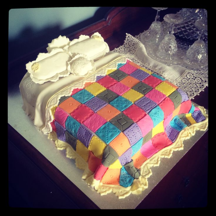 Quilted Cake Design : Quilting cake Cakes Pinterest