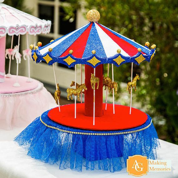 Hey, I found this really awesome Etsy listing at https://www.etsy.com/listing/384873194/carnival-carousel-centerpiece