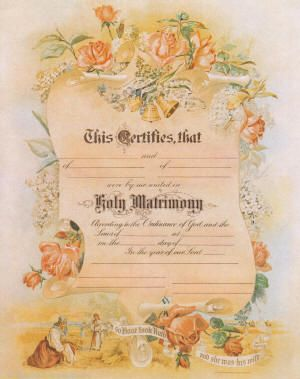 116 best ministery wedding images on pinterest wedding 26 personalized vintage wedding certificate with calligraphy would make a beautiful gift yadclub Choice Image