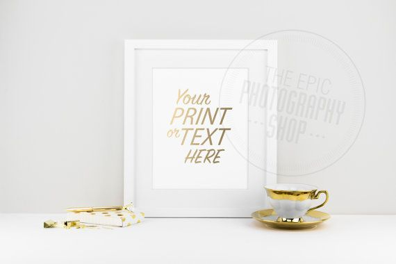 Print Background / Blank Frame / Styled Stock Photography / Product Photography / Staged Photography / Product Background / Gold / OR004