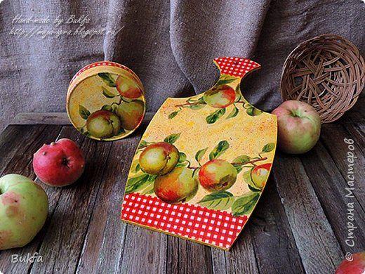 Поделка изделие Декупаж Зрело яблоко в саду и мечтало Упаду Дерево Салфетки