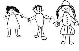 De la petite section à la grande section, les enfants dessinent un bonhomme chaque mois (ou presque). On peut donc suivre son évolution : D'année en année, le corps se structure, le visage se précise (bouche, yeux…). Les membres s'épaississent et se rattachent au tronc, les vêtements prennent une importance croissante. Ce livret est remis en fin d'année aux parents qui le rapportent ensuite à l'école afin de pouvoir le compléter.
