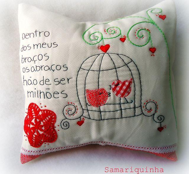 Almofadas cojines almohadas pinterest almohadas personalizadas bordado y mimos - Almohada mimos ...