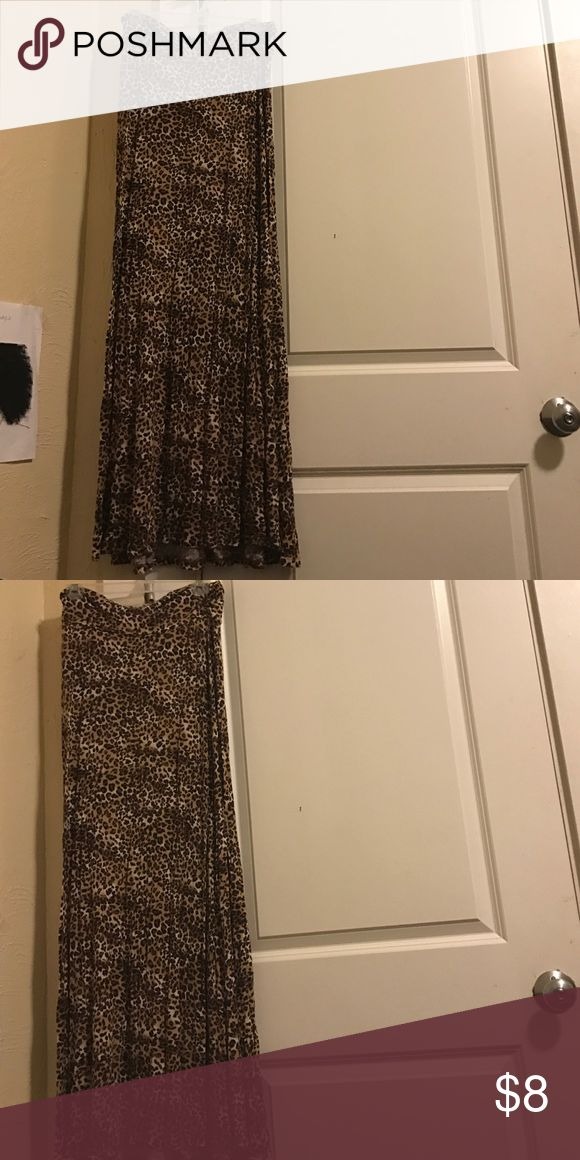 Long cheetah skirt No stains great condition Skirts Maxi