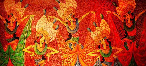 Colorful Creation of Bali Painting