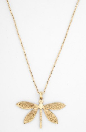 Tory Burch Dragonfly Pendant Necklace available at #Nordstrom