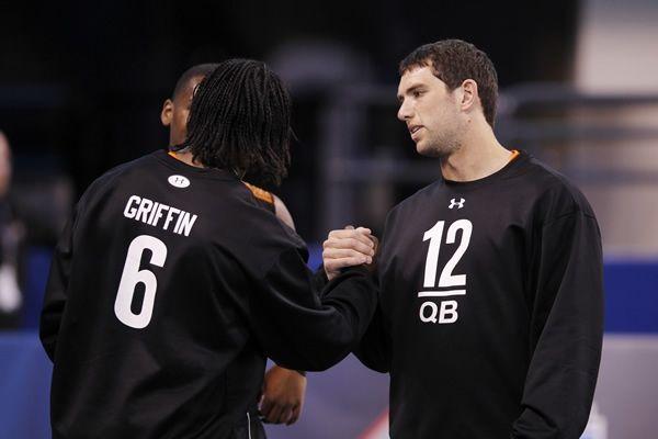 Los QB Andrew Luck y Robert Griffin III encabezan el Draft clase 2012 (Foto: Getty Images)