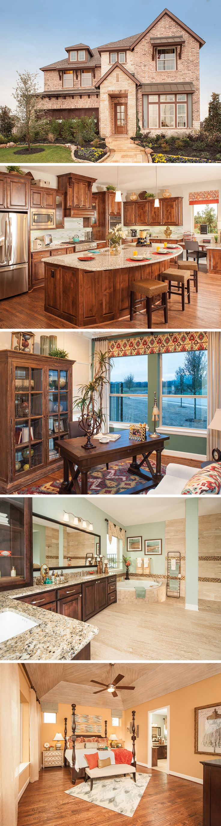 The Buckfield in Dallas, Texas is a beautiful 5 - 6 bedroom home that's perfect for large families!