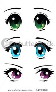 Here are three simple girl styled eyes. Ranging from the simple common round eyes, to the more oval eyes. Topping off with those big dreamy eyes we all love.