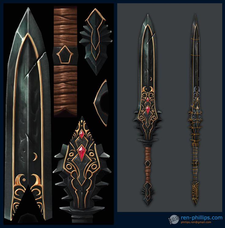 ArtStation - Diablo 3 Swords, Ren Phillips