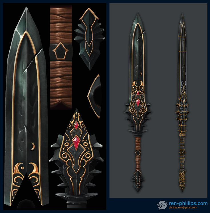 ArtStation - Diablo 3 Swords, Ren Phillips