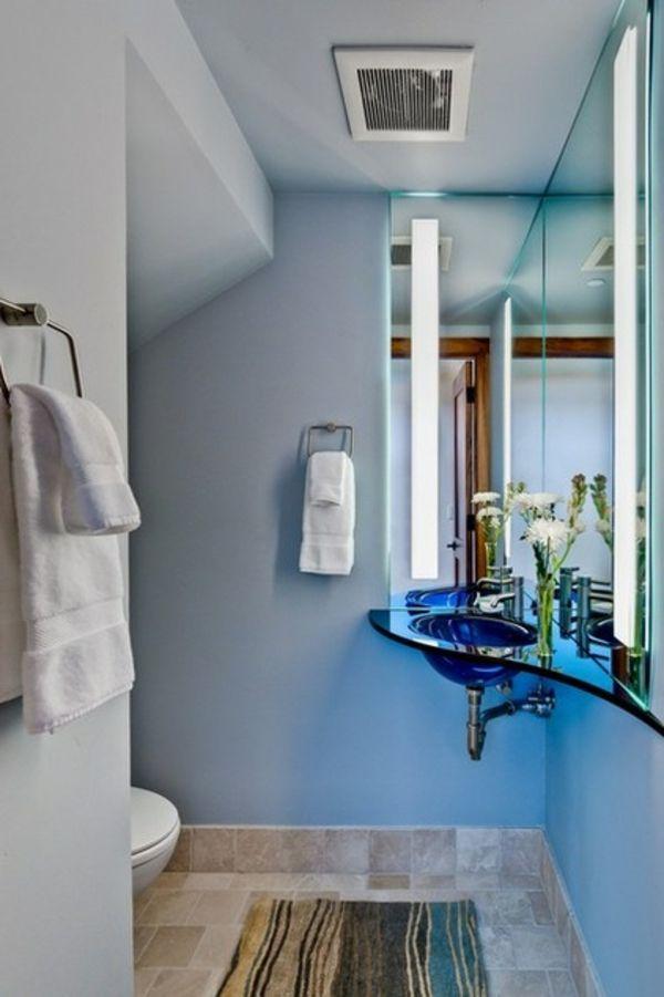Hier Sind 8 Clevere Wege Für Die Einrichtung Eines Kleinen Badezimmers.  Richten Sie Den Fokus Weg Von Der Raumgröße Und Setzen Sie Auf Die  Wandgestaltung