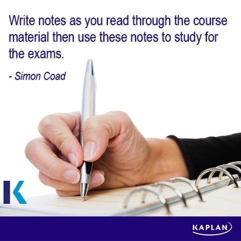 Study tip - Be prepared.