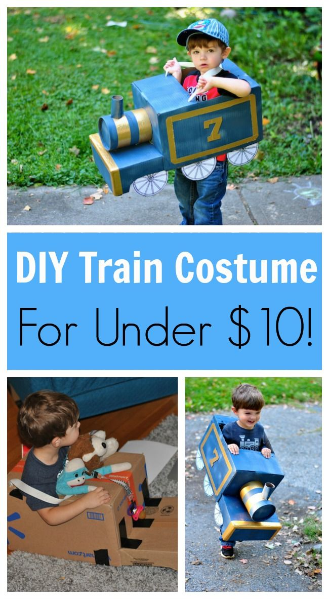 DIY Toddler Train Costume for Under $10