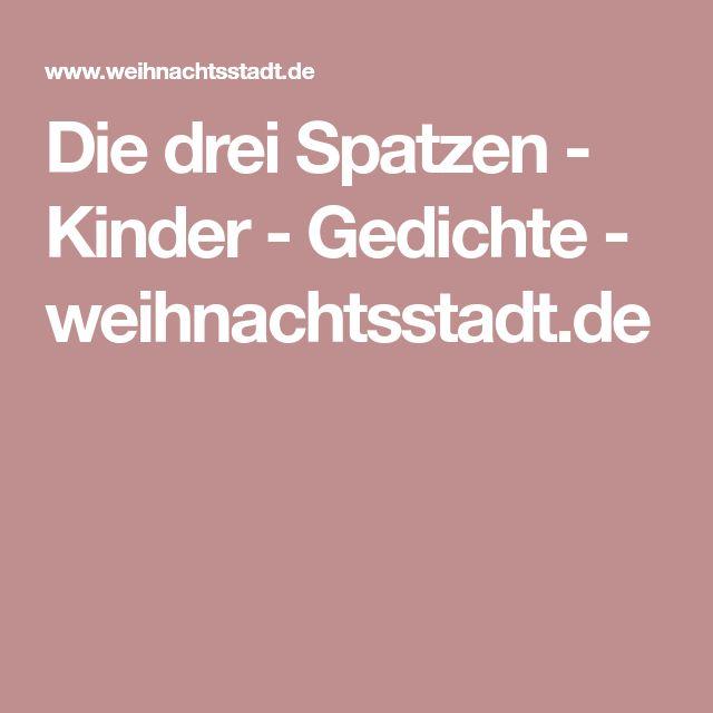 Die drei Spatzen - Kinder - Gedichte - weihnachtsstadt.de
